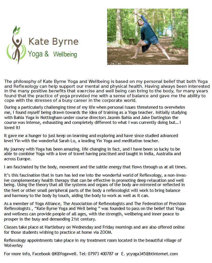 Kate Byrne Yoga & Wellbeing